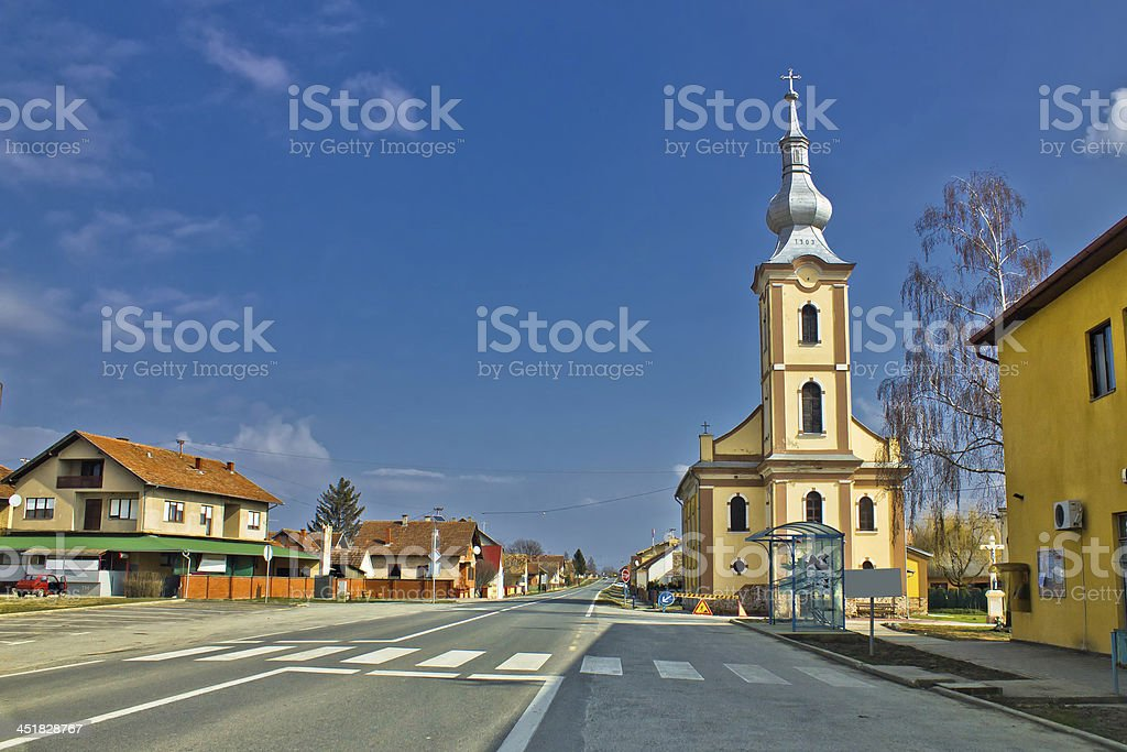 Baranjsko Petrovo Selo - village in Croatia stock photo