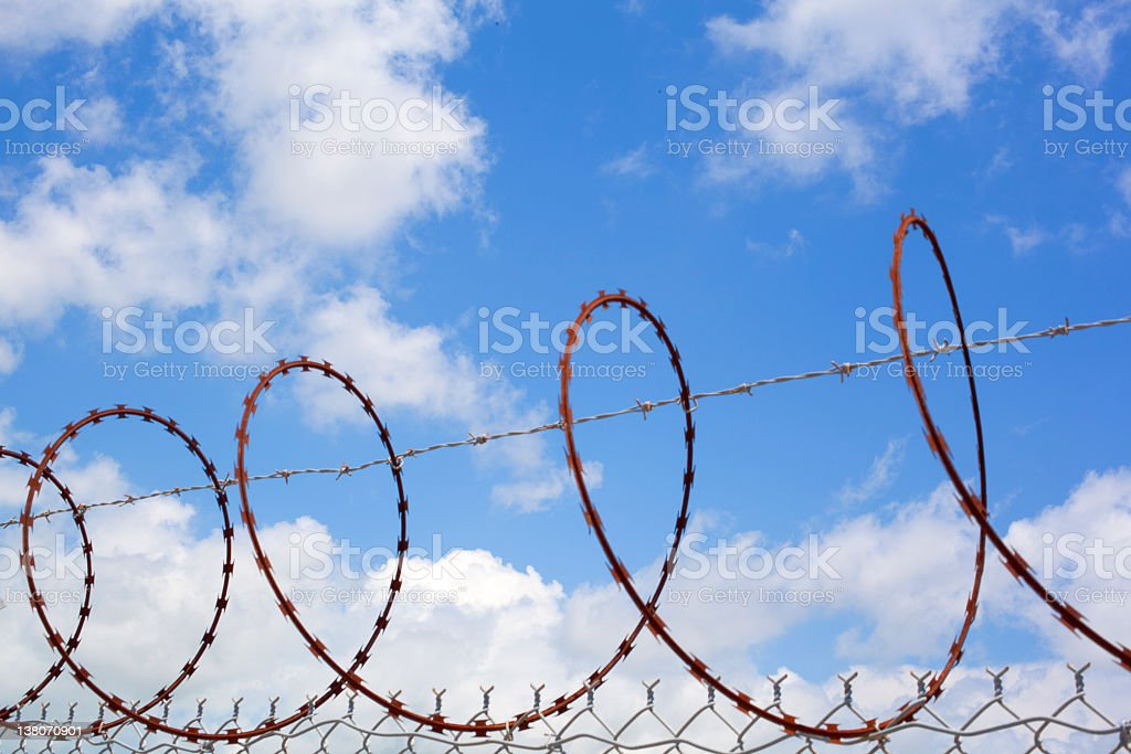 Barb Wire royalty-free stock photo