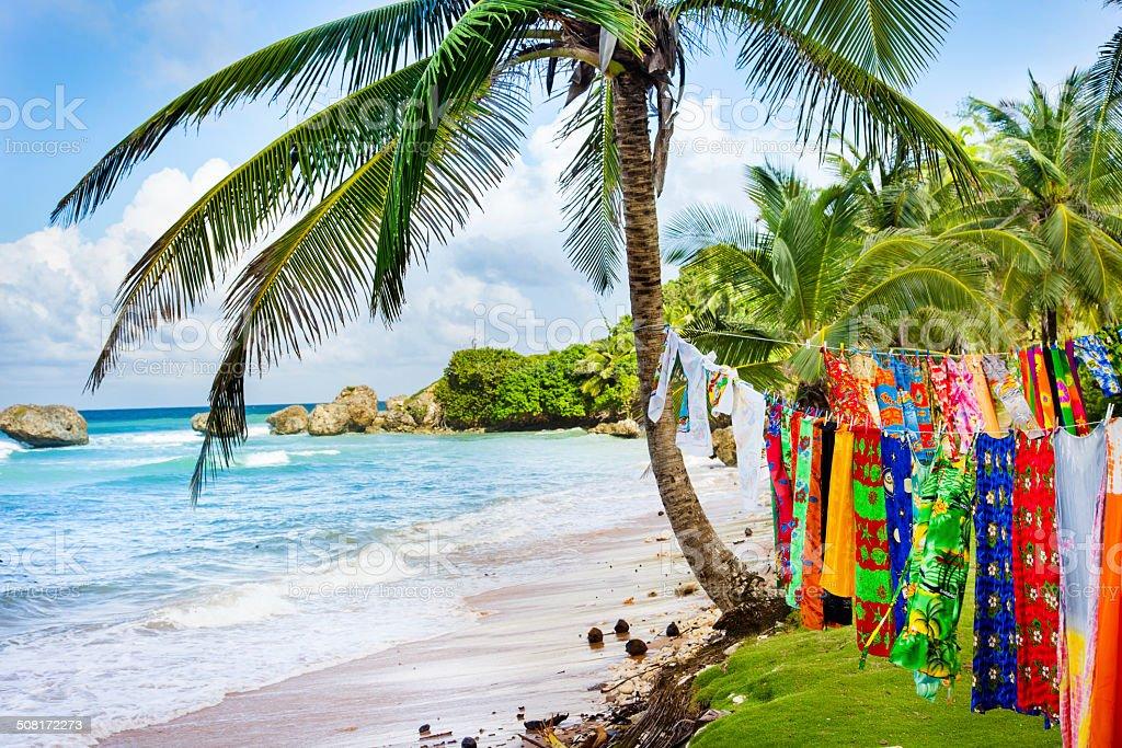Barbados Beach stock photo