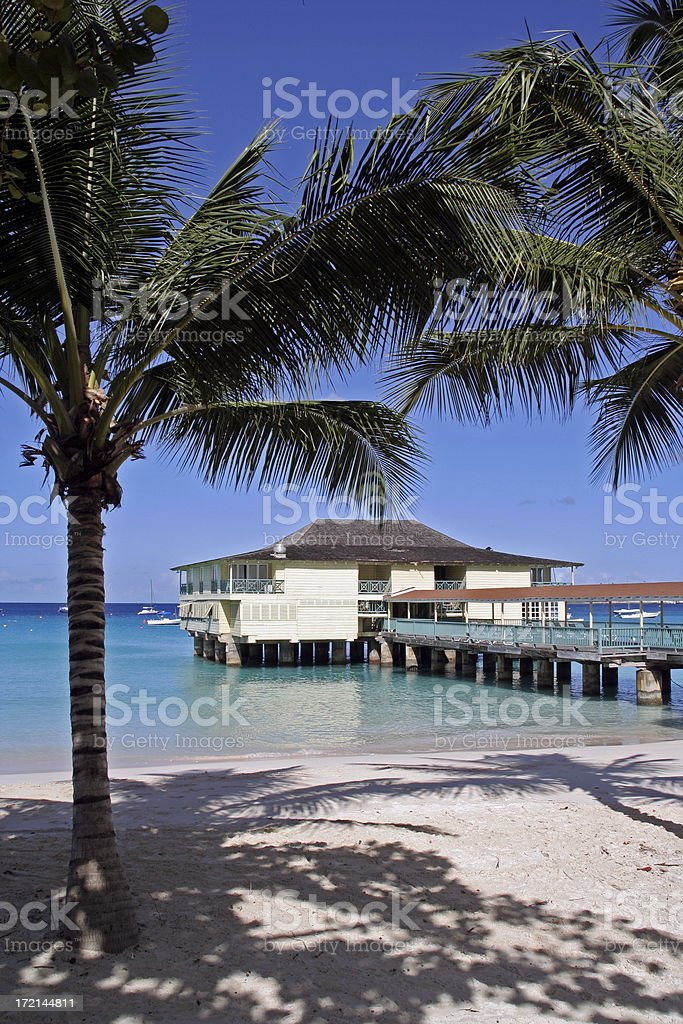 Barbados Beach Scene stock photo