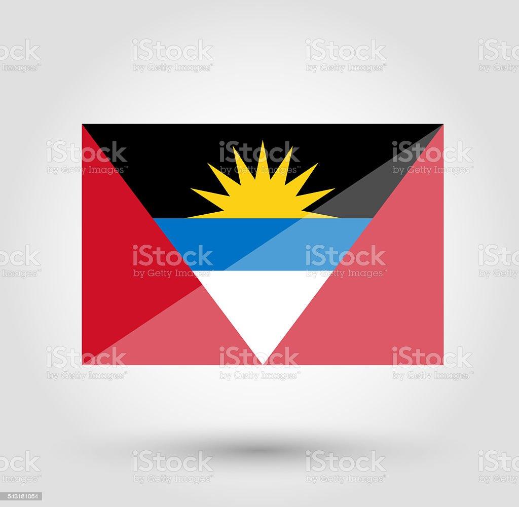 Barbados flag on gray gradient background stock photo