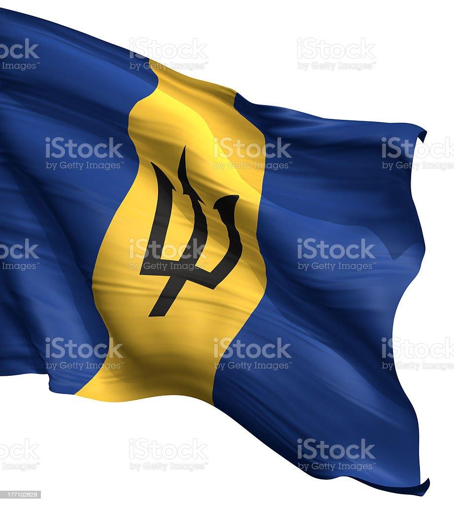 Barbados Flag royalty-free stock photo