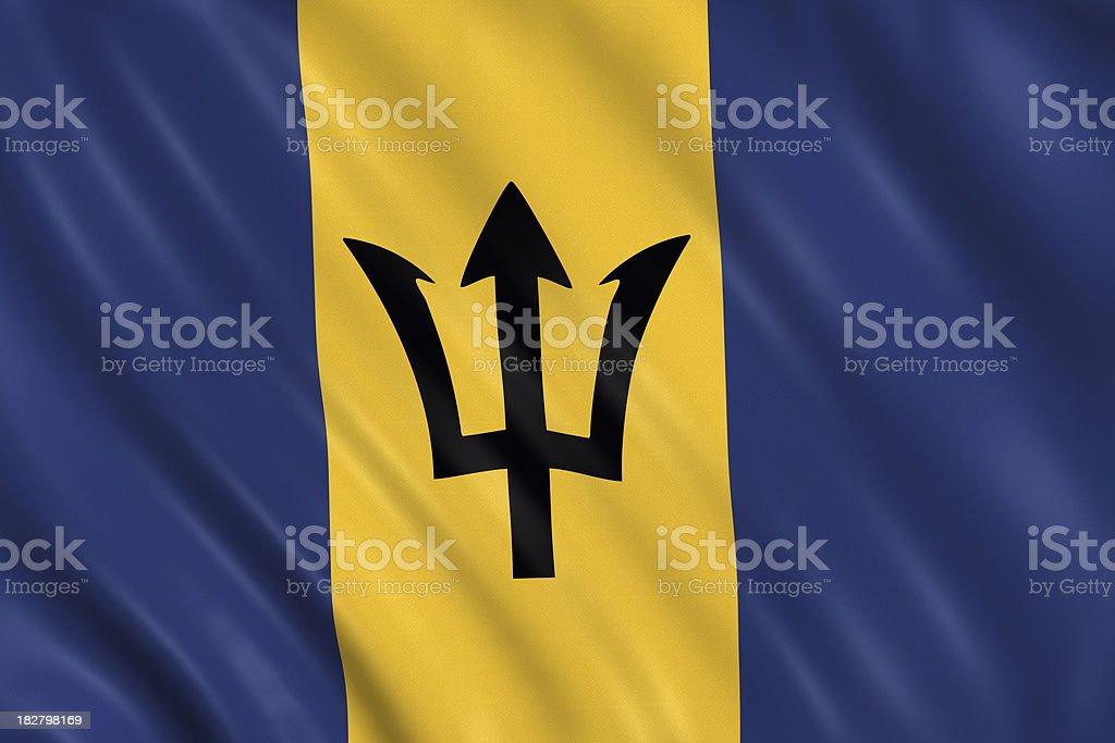 barbados flag stock photo