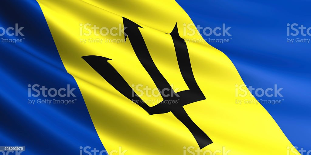 Barbados flag. royalty-free stock photo