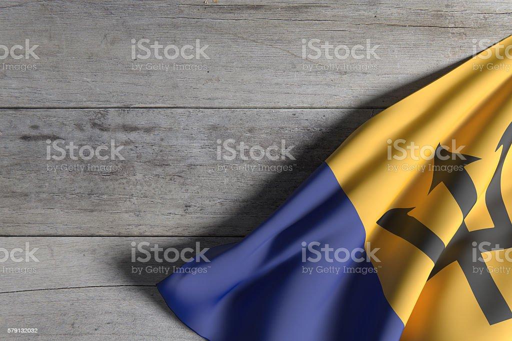 Barbados flag waving stock photo