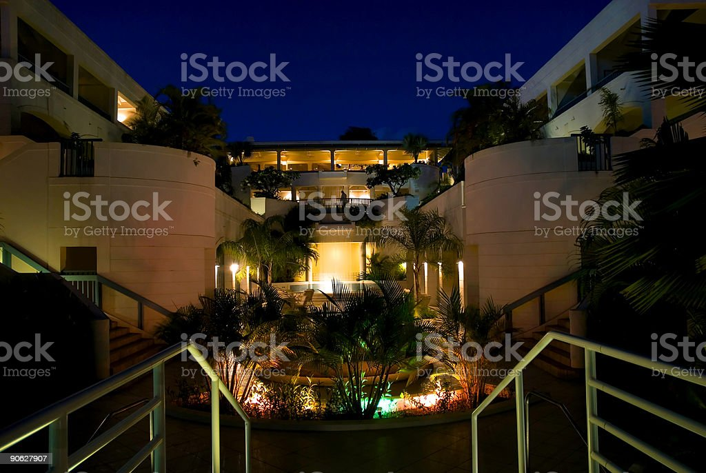 Barbados Hotel Courtyard royalty-free stock photo