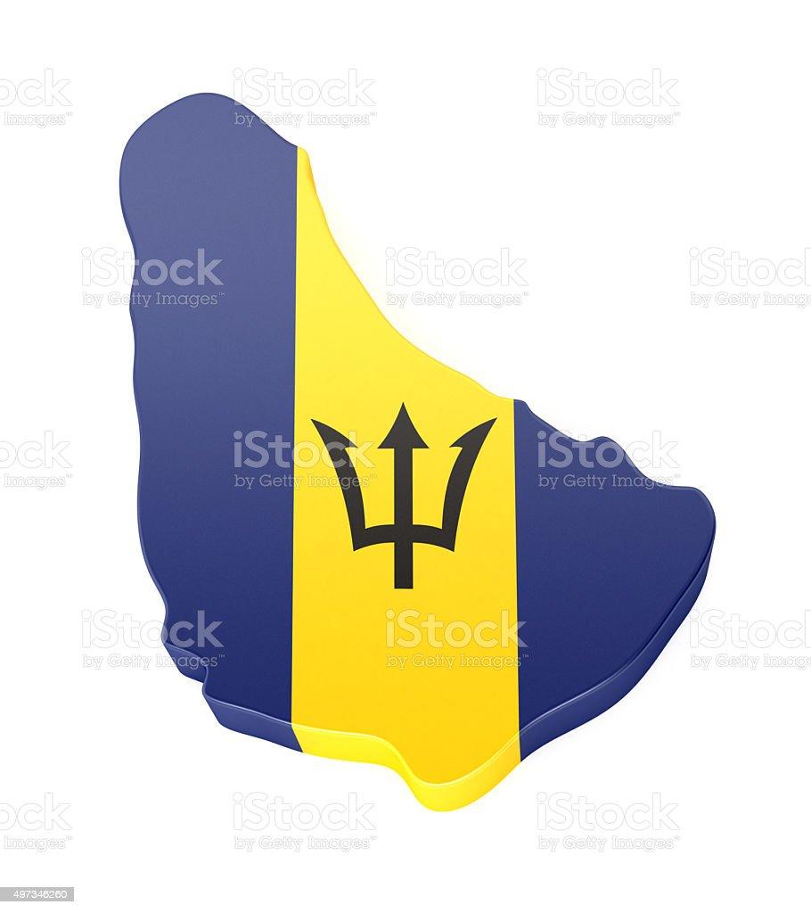 Barbados Map stock photo