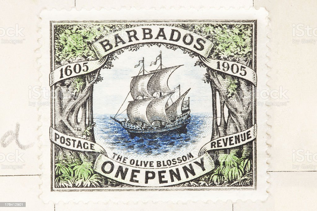 Barbados Postage Stamp royalty-free stock photo