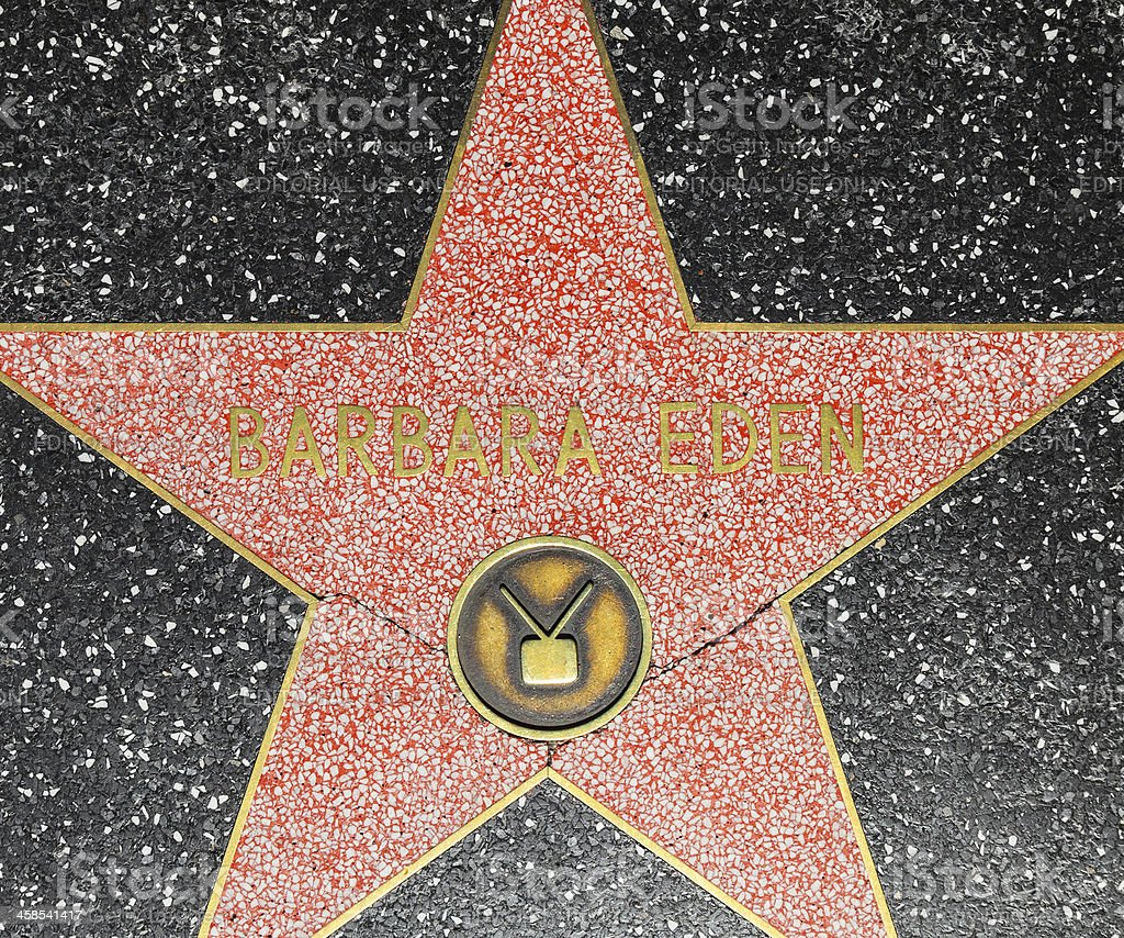 Barbara Edens star on Hollywood Walk of Fame stock photo