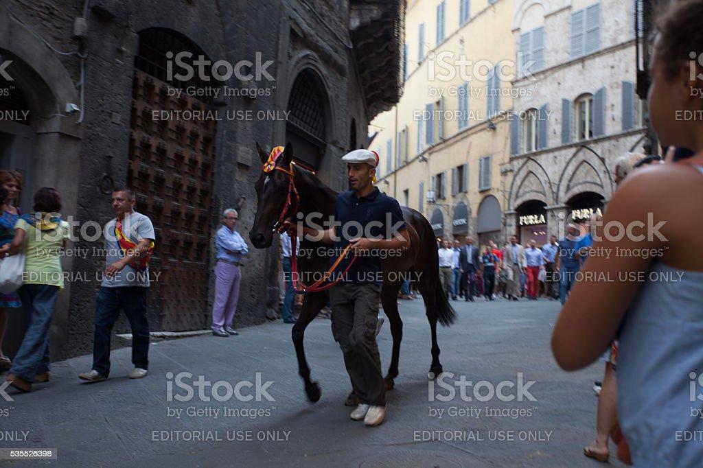 Barbaresco of the Contrada Chiocciola stock photo