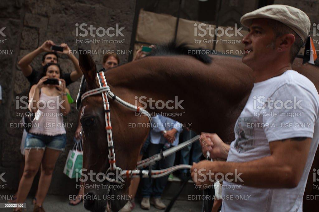 Barbaresco of the Contrada Lupa stock photo