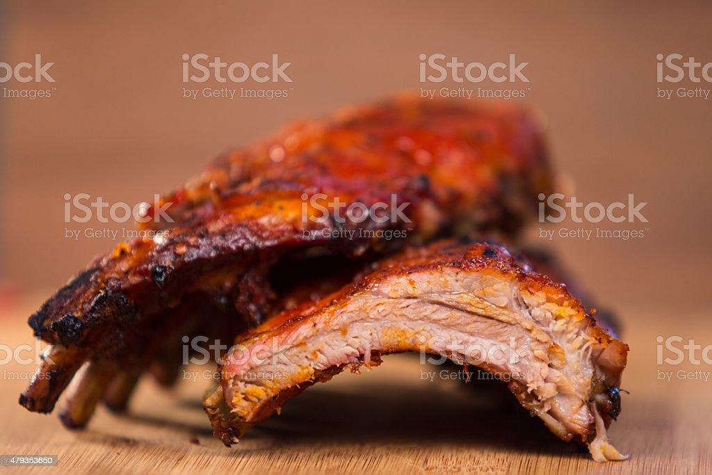 Barbecue Baby Back Pork Ribs stock photo