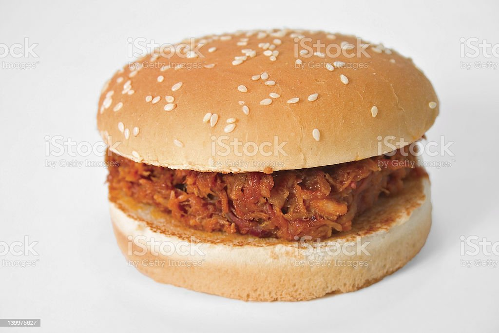 Barbecue Beef Sandwich royalty-free stock photo