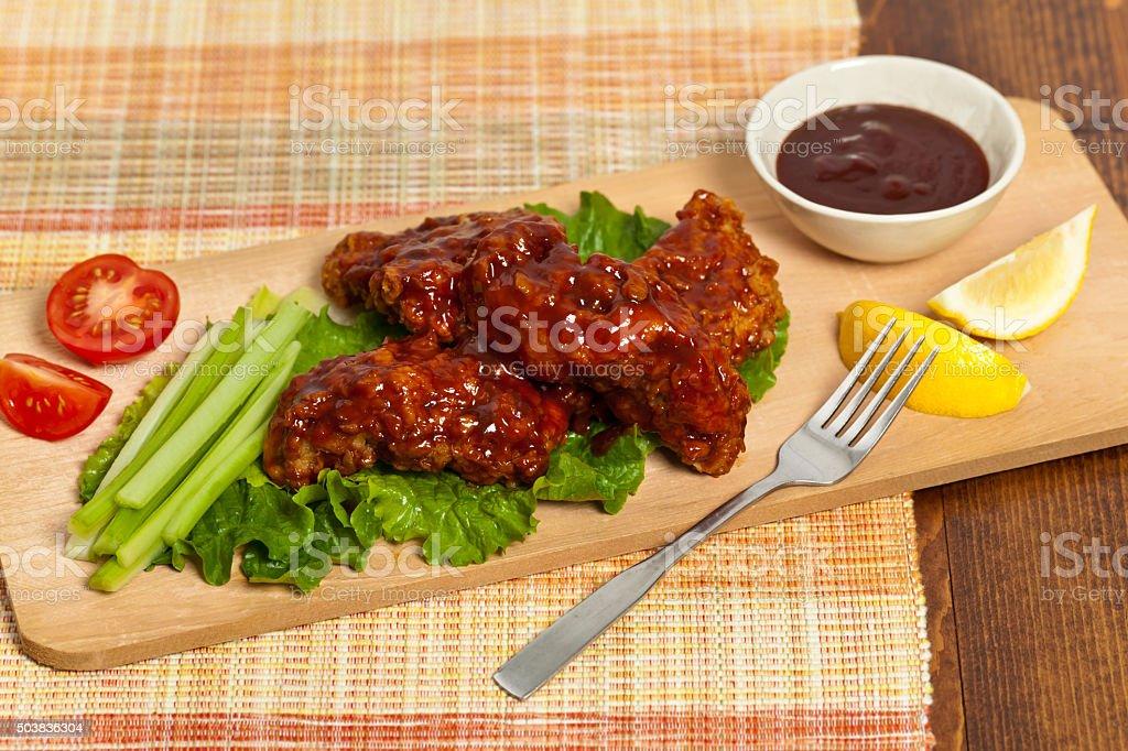 Barbecue Buffalo Chicken stock photo