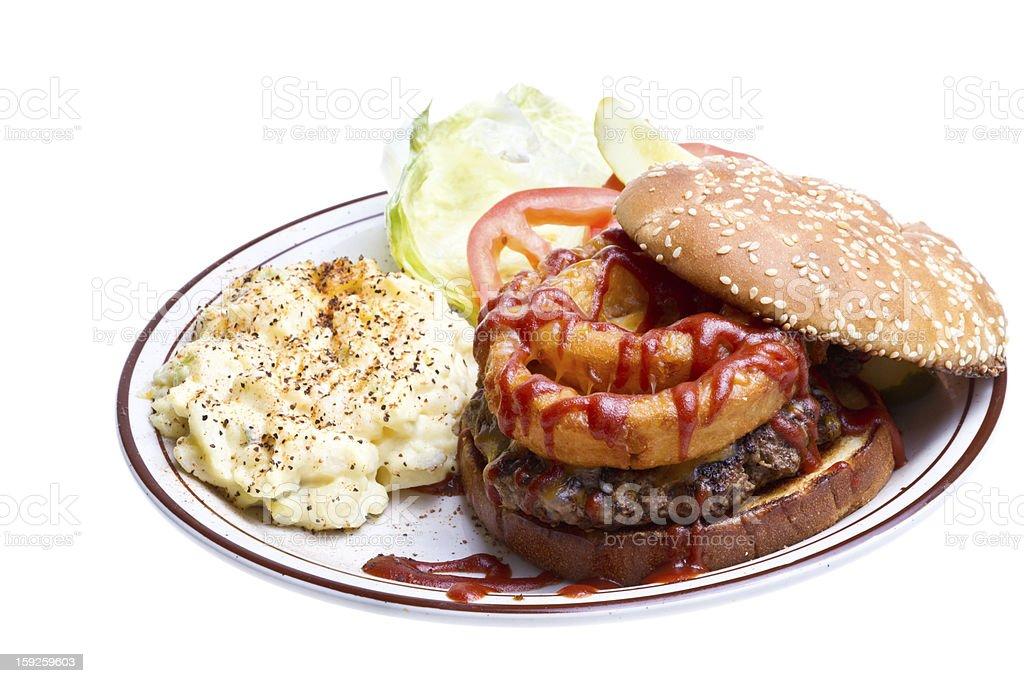 Barbecue Burger royalty-free stock photo