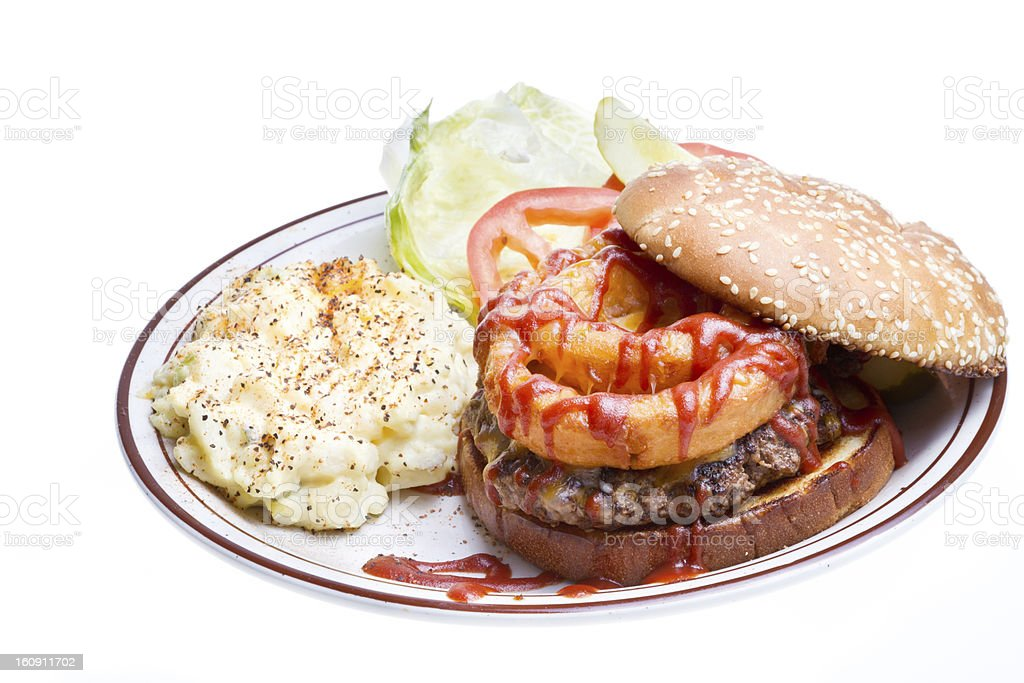 Barbecue Burger royalty-free stock photo
