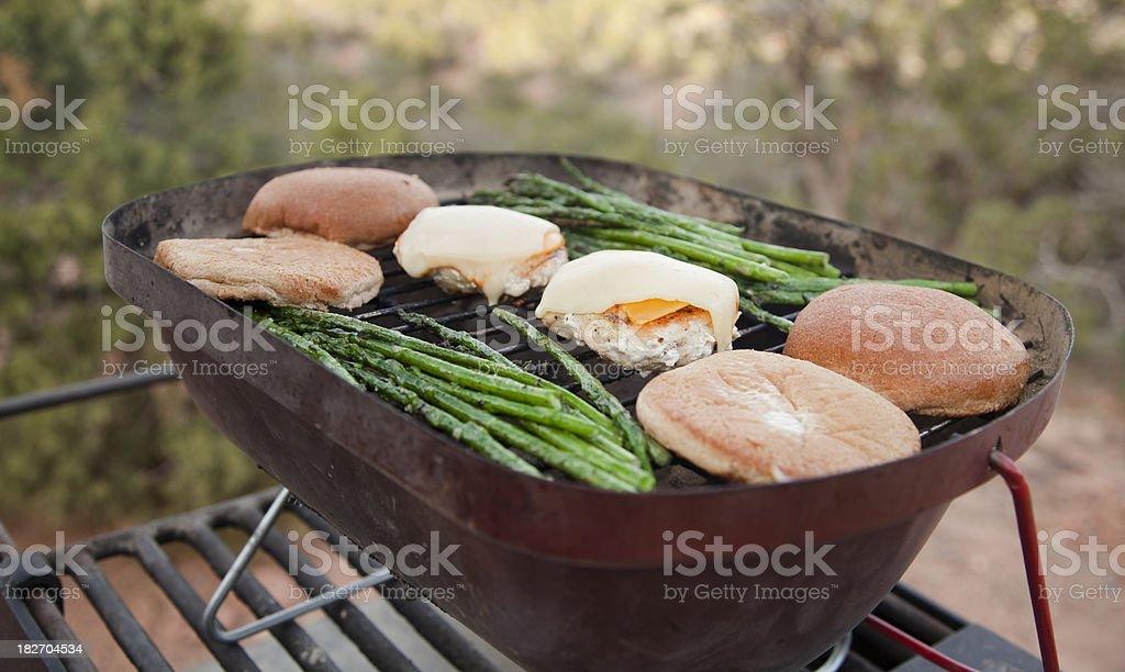 Barbecue Burgers stock photo