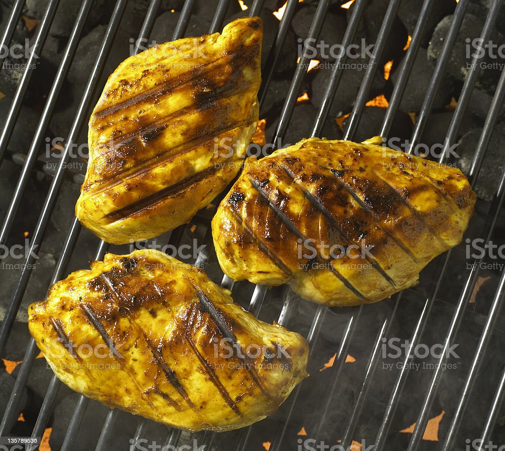 Barbecue Chicken on grill royalty-free stock photo