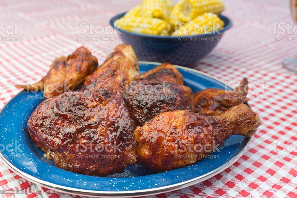 Barbecue Chicken stock photo