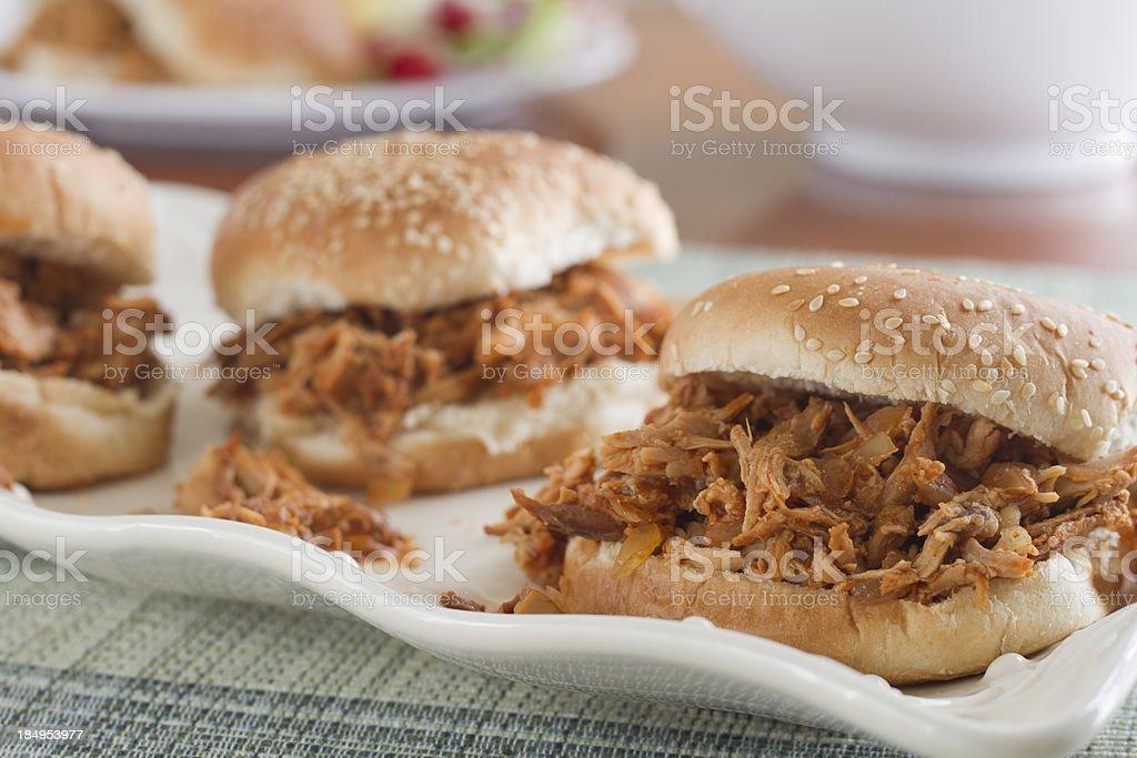 Barbecue Chicken Sandwich Platter stock photo