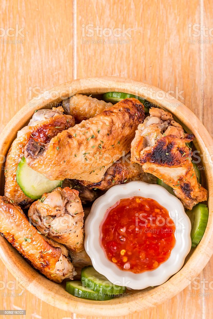 Barbecue Chincken wings stock photo