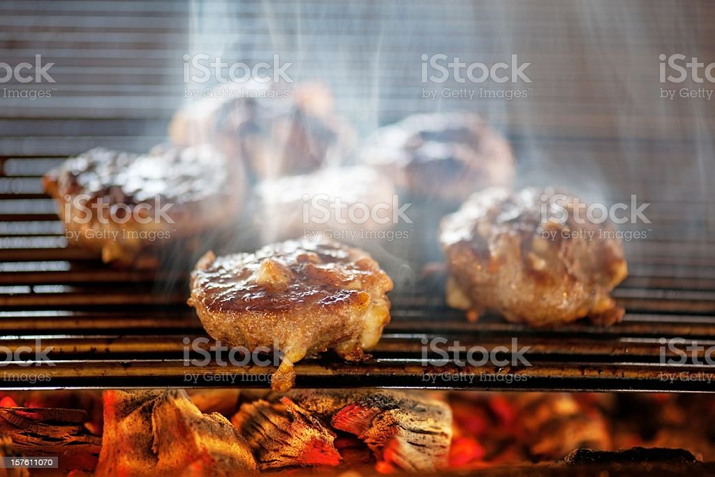 barbecue cooking stock photo