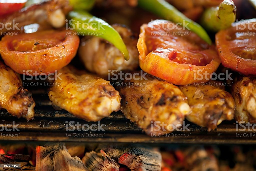 barbecue cooking royalty-free stock photo