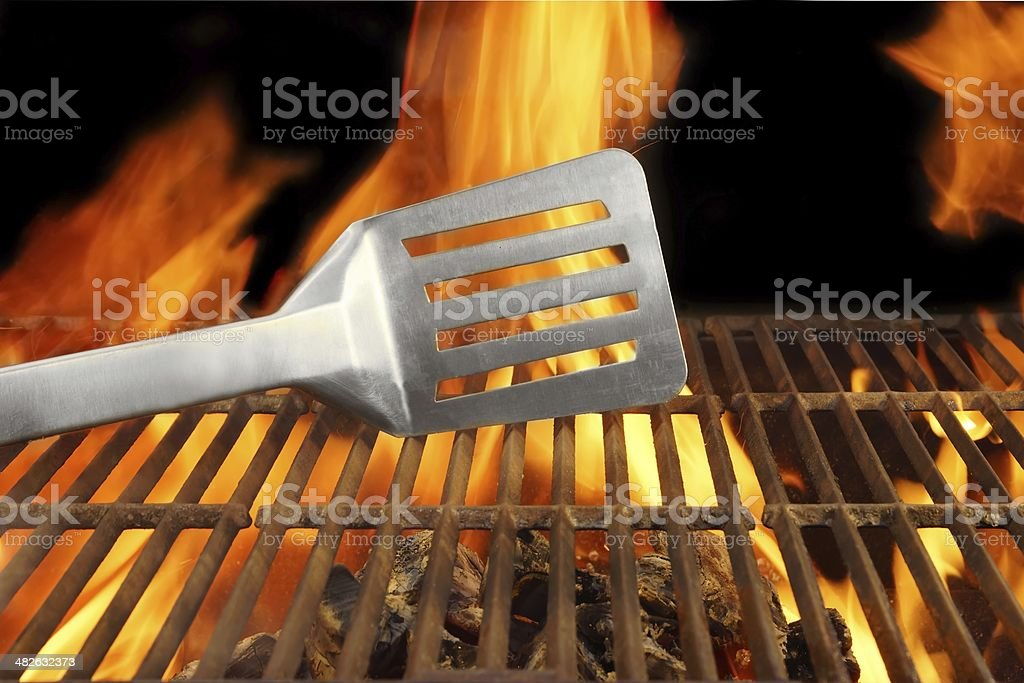 Barbecue  Fire Flame Hot Grill Spatula, XXXL royalty-free stock photo