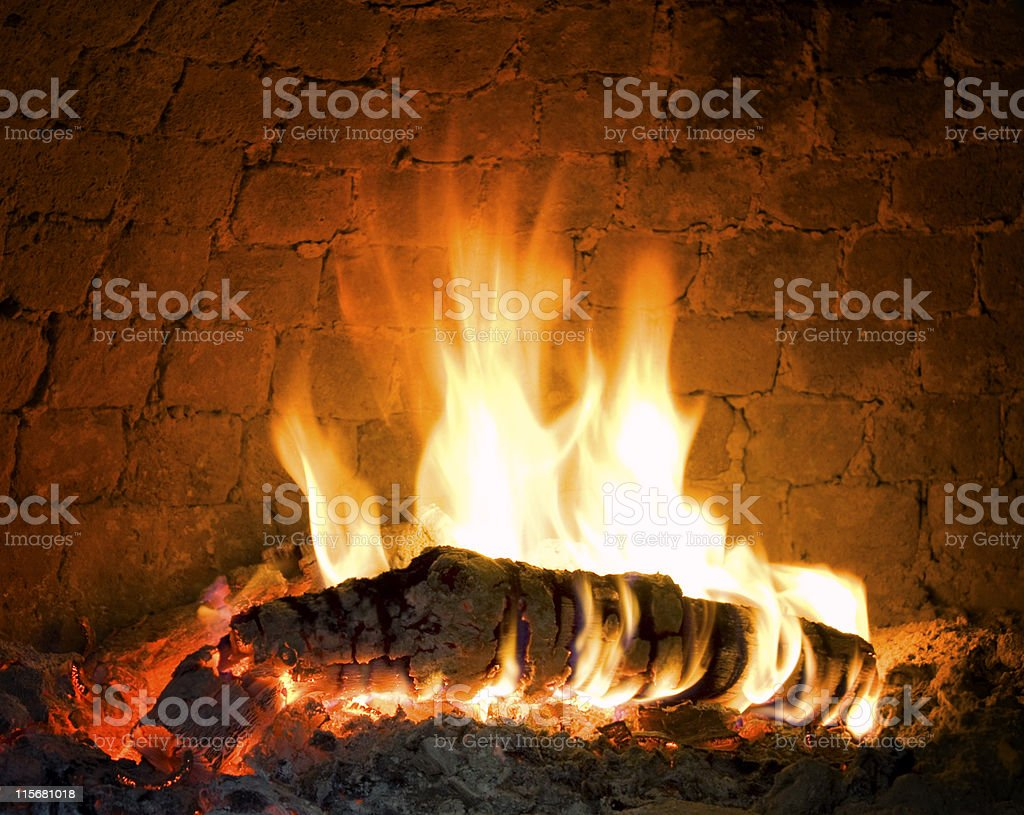 Barbecue fire royalty-free stock photo