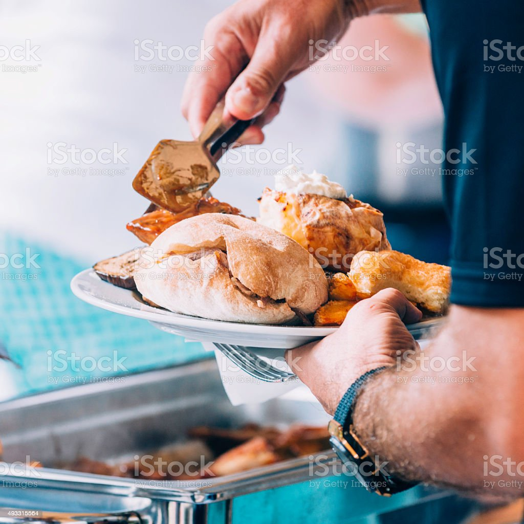 Barbecue food catering stock photo