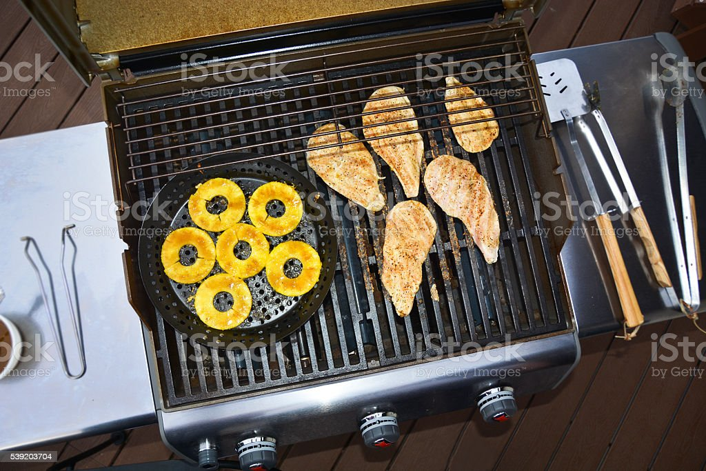 Barbecue Grill From Above stock photo
