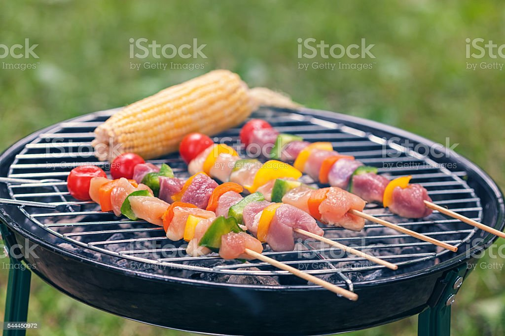 Barbecue in Nature stock photo