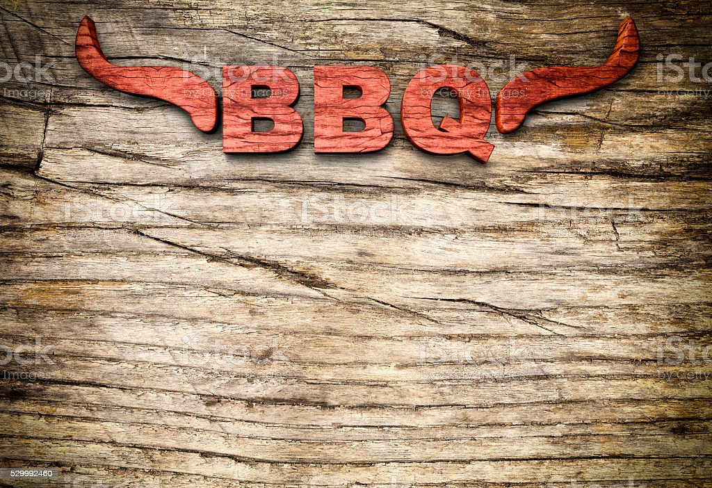 Barbecue Long Horn Sign stock photo