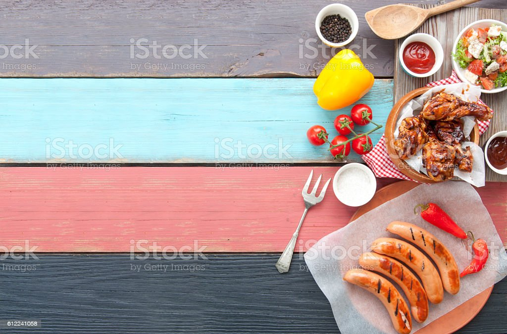 Barbecue meal background stock photo