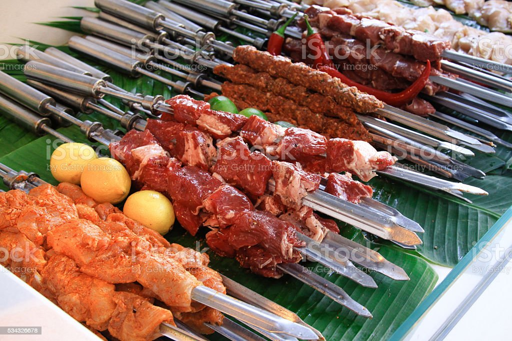 BBQ Barbecue Meat stock photo