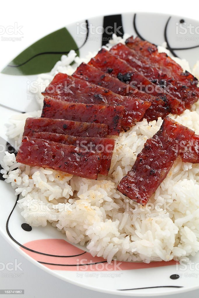 Barbecue Meat Rice royalty-free stock photo