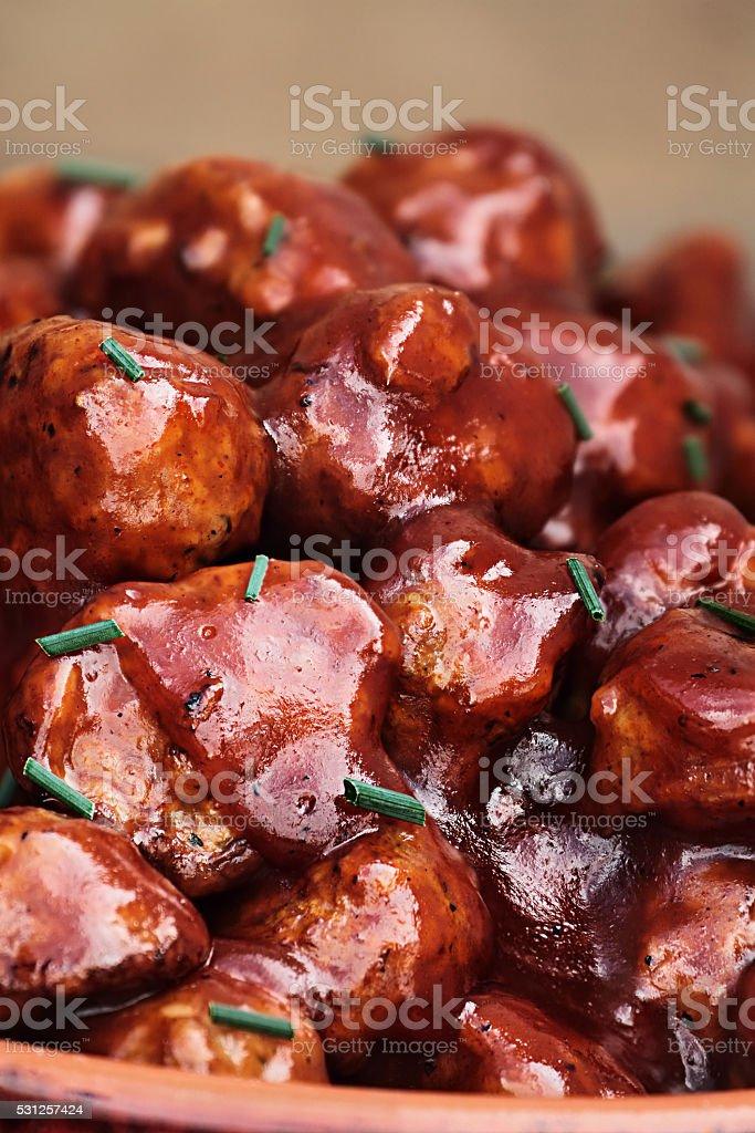 Barbecue Meatballs stock photo