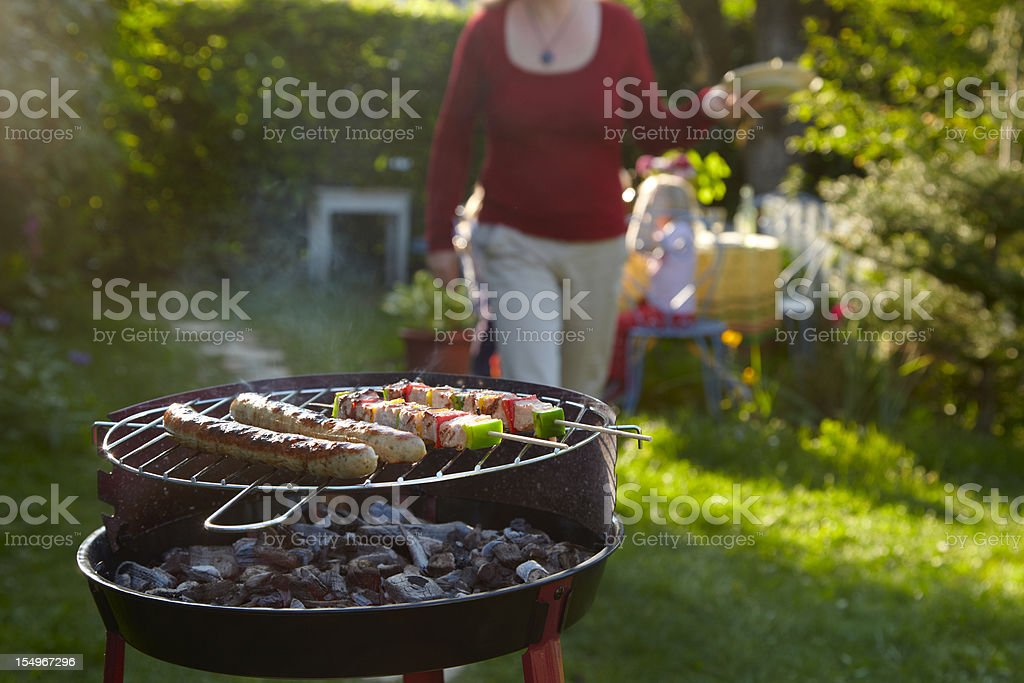 Barbecue on a summer evening royalty-free stock photo