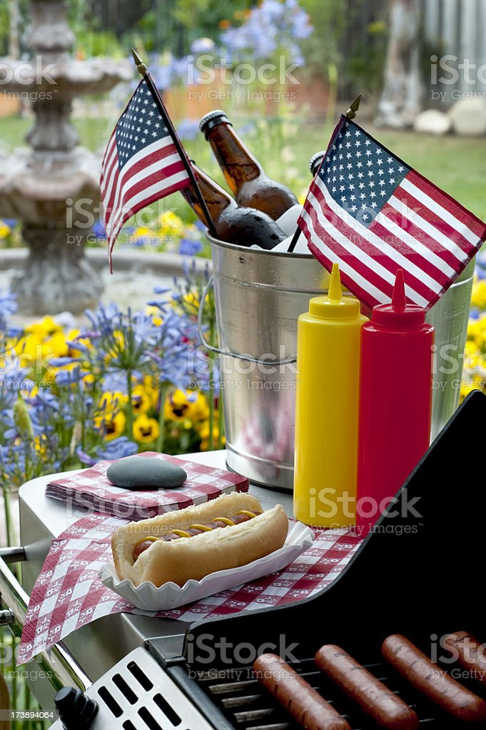 Barbecue on Independence Day royalty-free stock photo