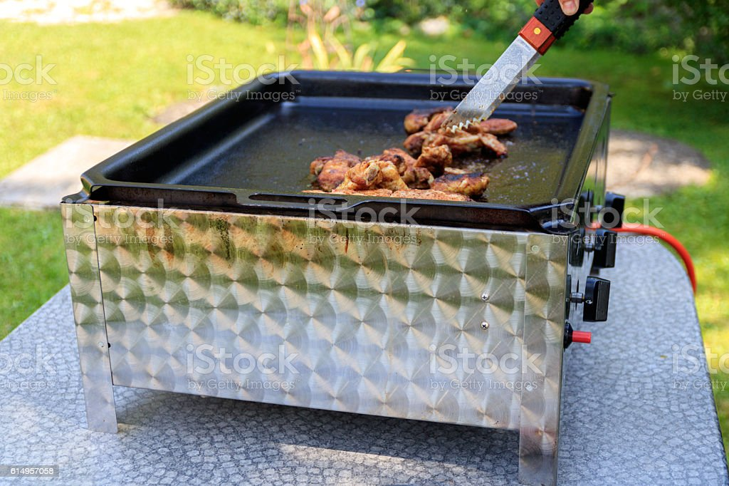 Grillen am Sonntag stock photo
