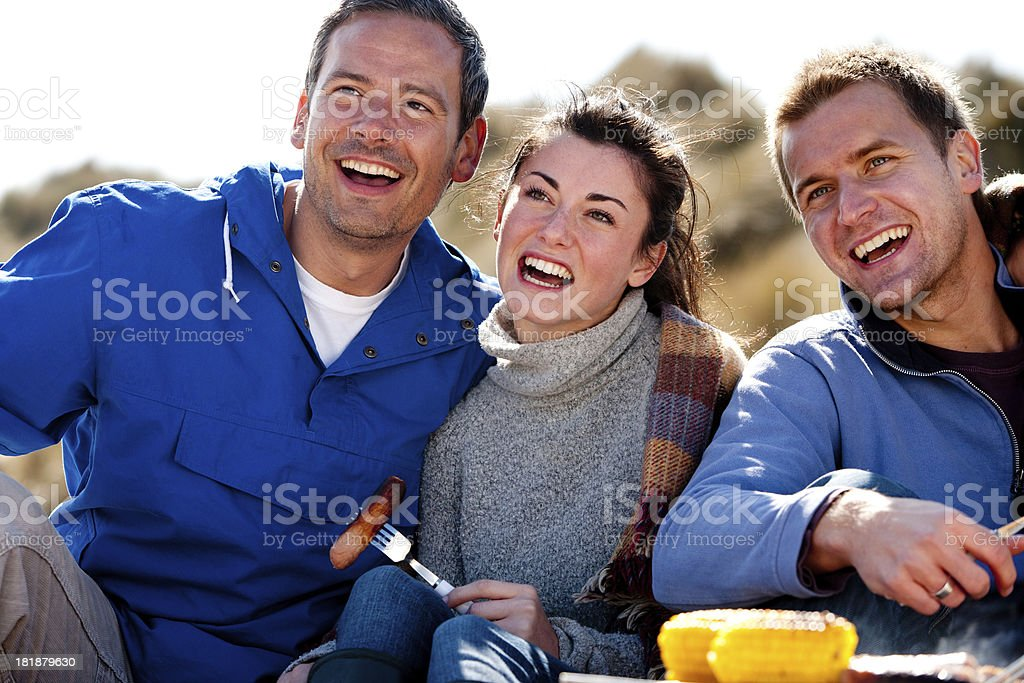 Barbecue on the Beach royalty-free stock photo