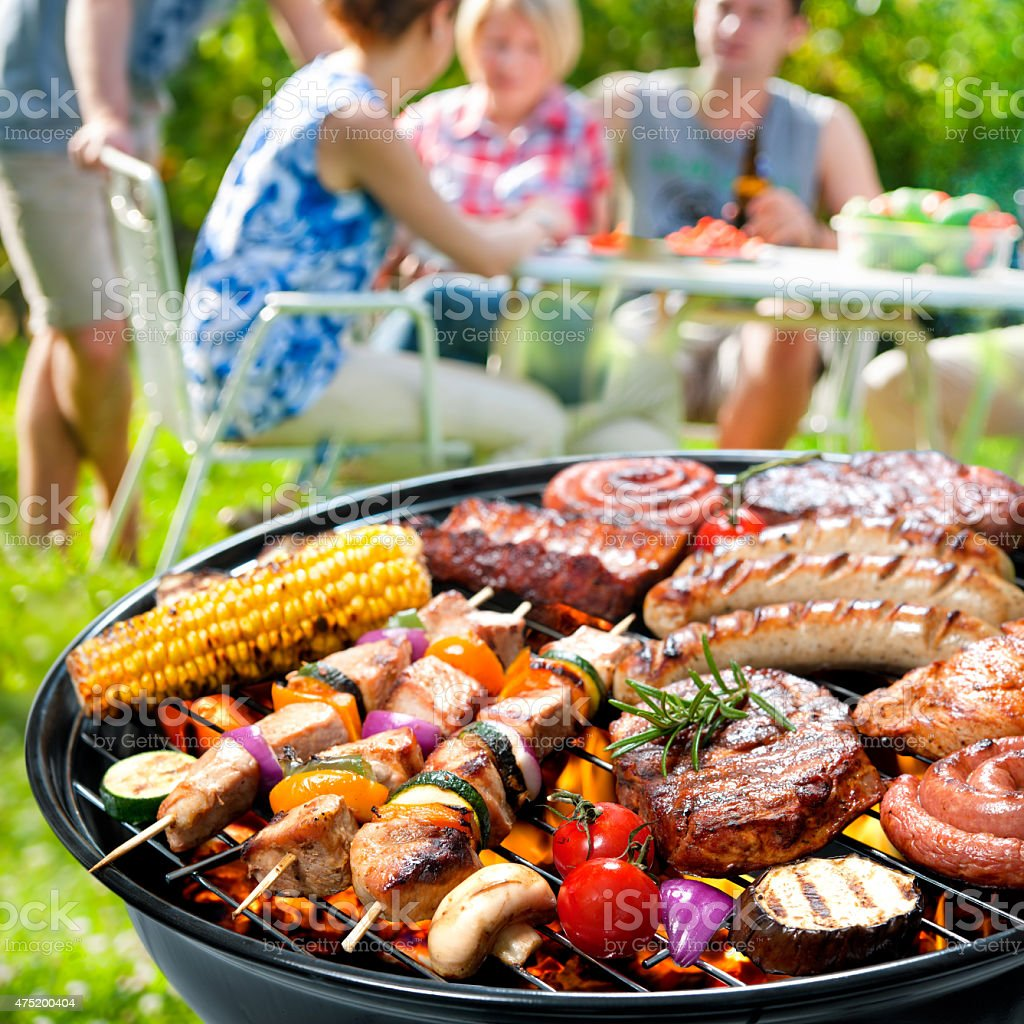 Barbecue party stock photo
