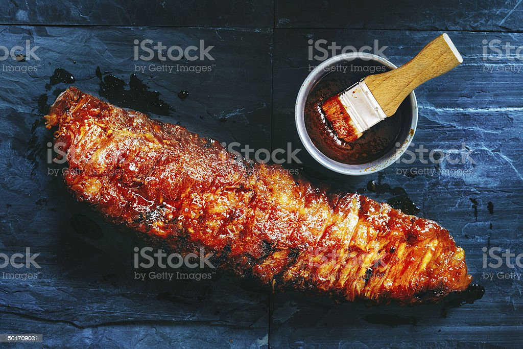 Barbecue pork ribs stock photo