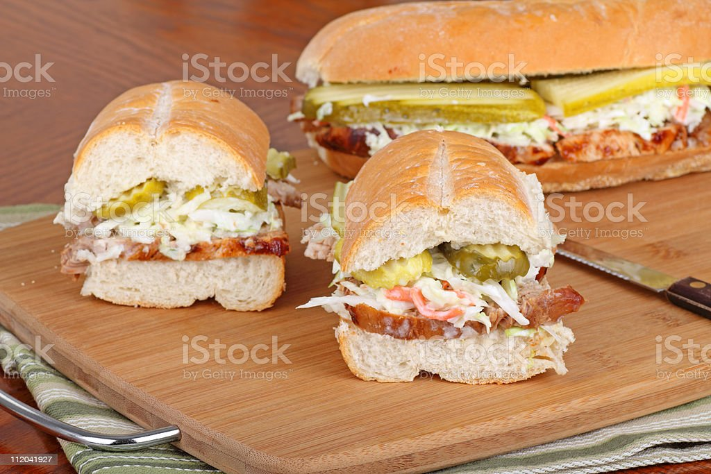 Barbecue Pork Sandwich stock photo