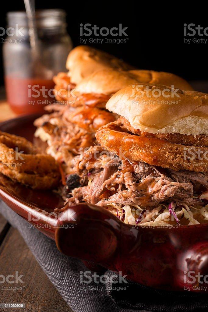Barbecue Pork Sandwich stock photo