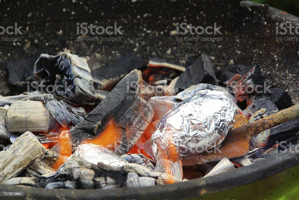 barbecue potato stock photo