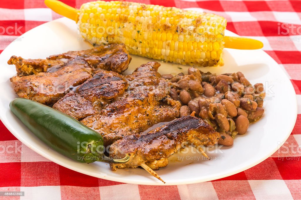 Barbecue Rib Dinner stock photo