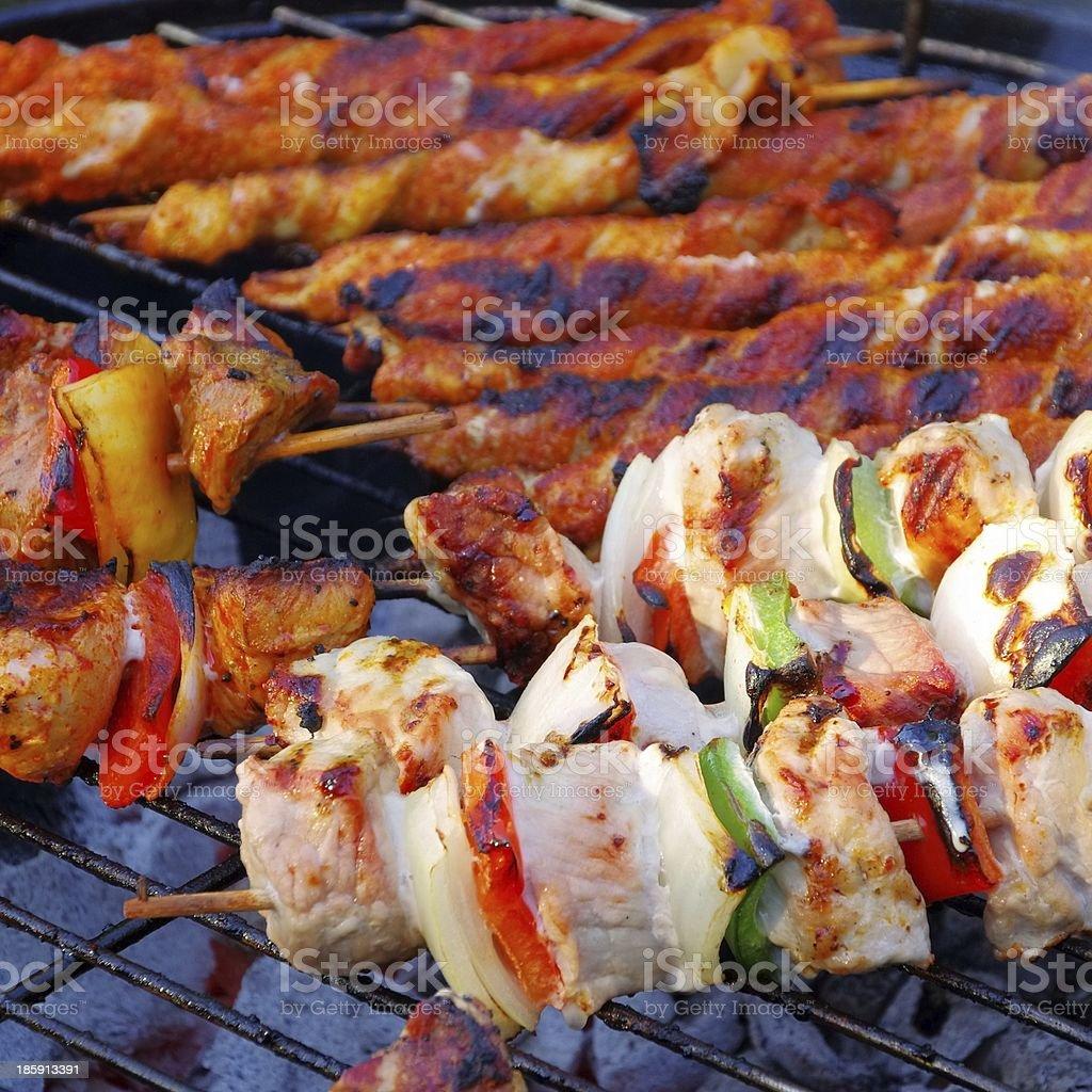 barbecue shashlik stock photo