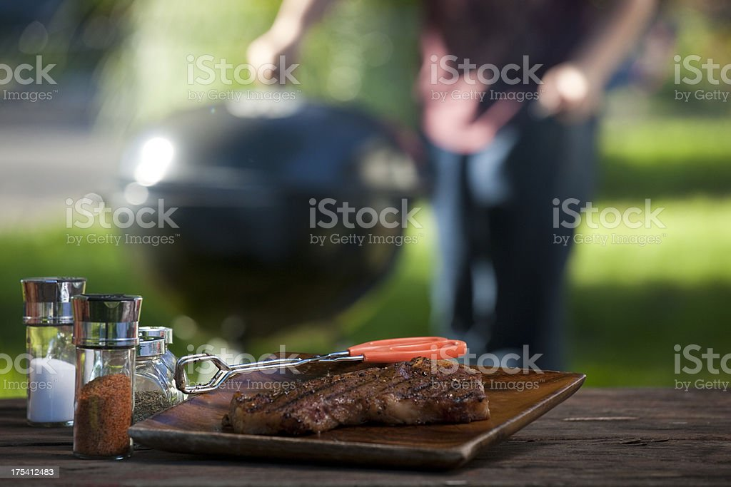 Barbecue Steak Outside royalty-free stock photo