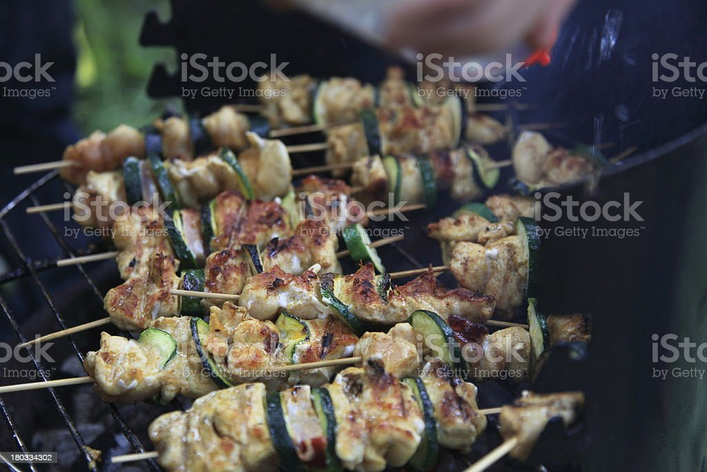 Barbecue view royalty-free stock photo